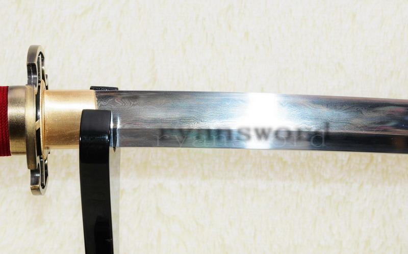 One Piece Sandai Kitetsu Katana Sword Handmade Roronoa Zorore In The Anime