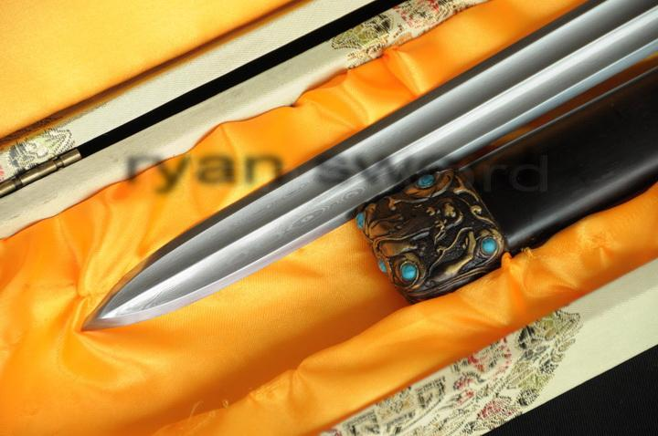 High Quality Folded Steel 1095 Carbon Steel Sanmai Chinese Qin Sword