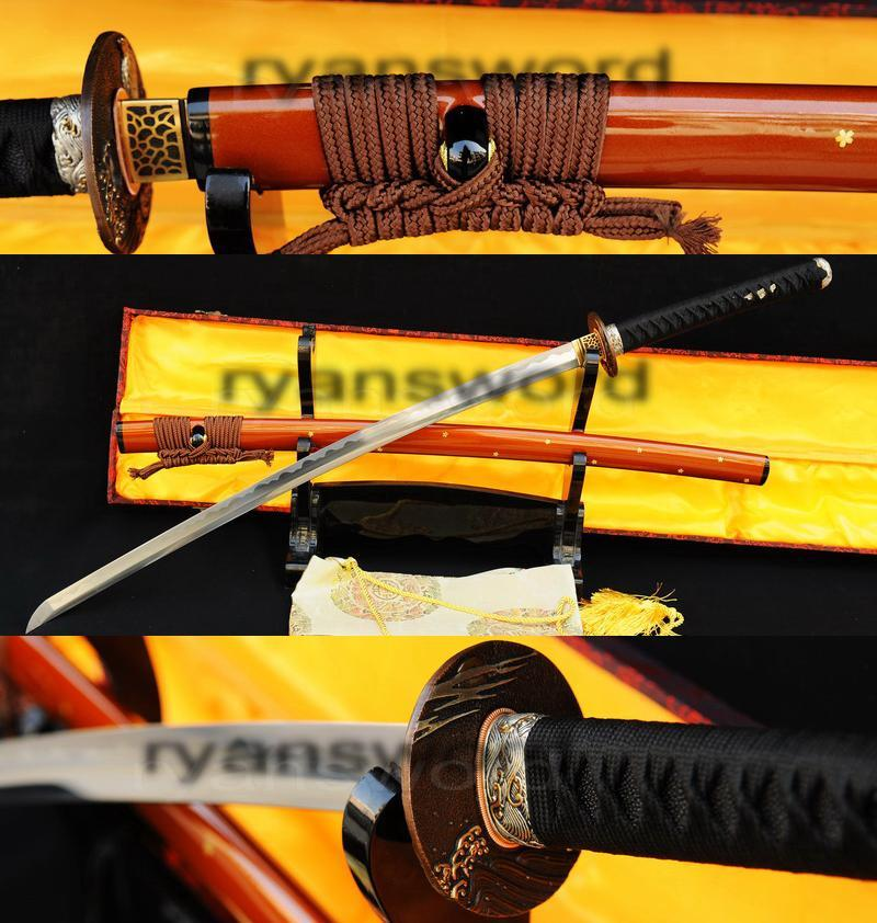 High Quality 1095 Highcarbon Steel Japanese Samurai Sword Katana
