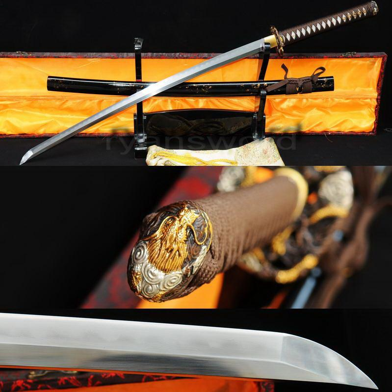 High Quality Combined Material Clay Tempered+Abrasive Japanese Samurai Katana Sword