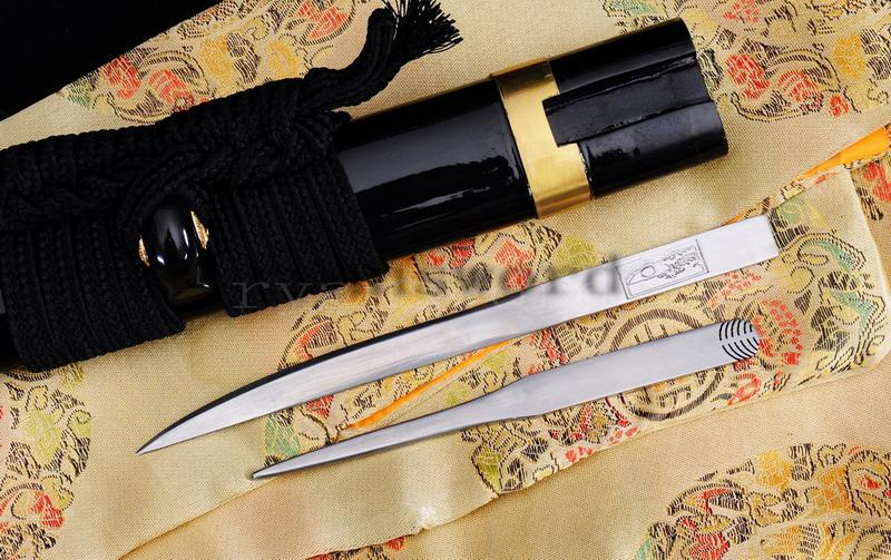 High Quality Shihuzume Clay Tempered Abrasive With Kozuka Kogai Japanese Samurai Katana Sword