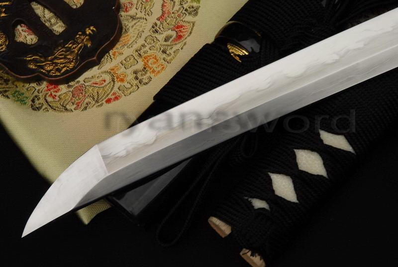 High Quality 1095 Carbon Steel+Folded Steel+Iron Clay Tempered+Abrasive Japanese Katana Sword
