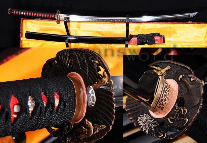 Handmade Maru Clay Tempered Eagle Tsuba Japanese Samurai Katana Sword