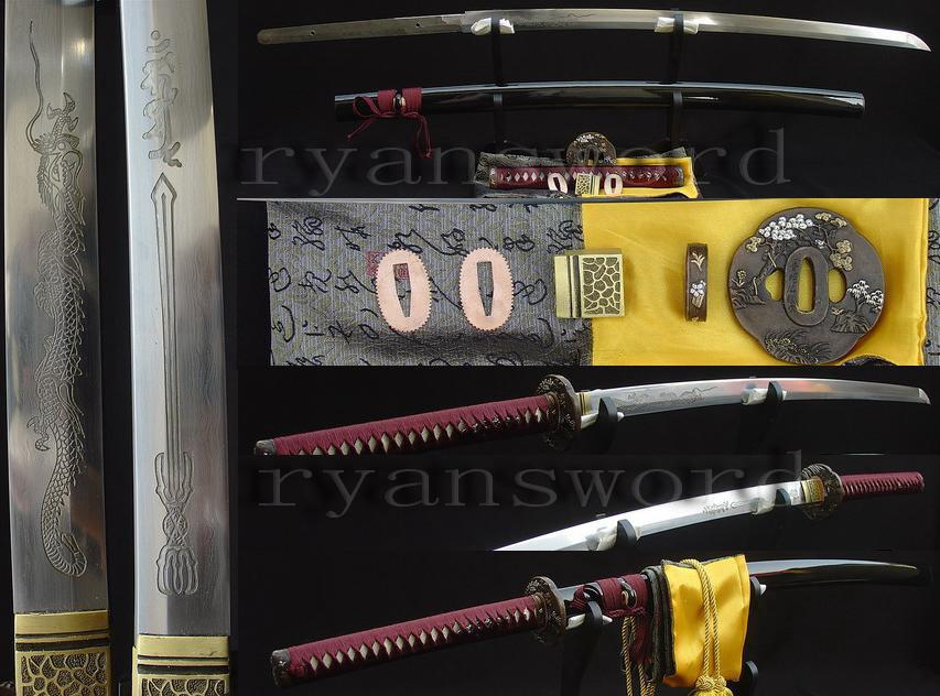 High Quality Folded Steel+1095 Carbon Steel Japanese Katana Samurai Sword