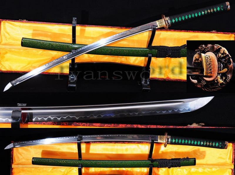 High Quality Maru 1095 Carbon Steel Clay Tempered Japanese Samurai Sword Katana