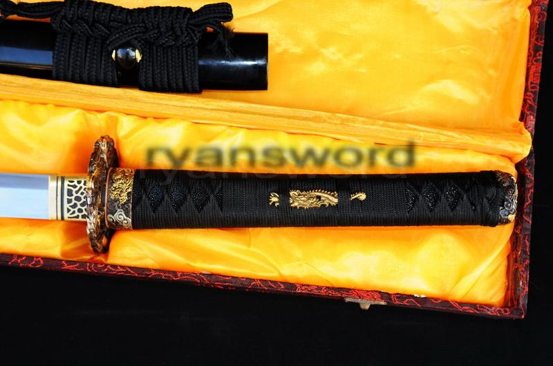 High Quality1095carbon Steel+Folded Steel+Clay Tempered Japanese Samurai Katana Sword