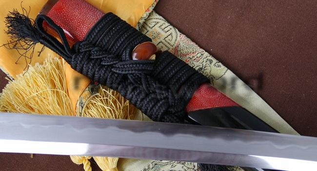 Clay Tempered+Abrasive Japanese Samurai Sword Katana