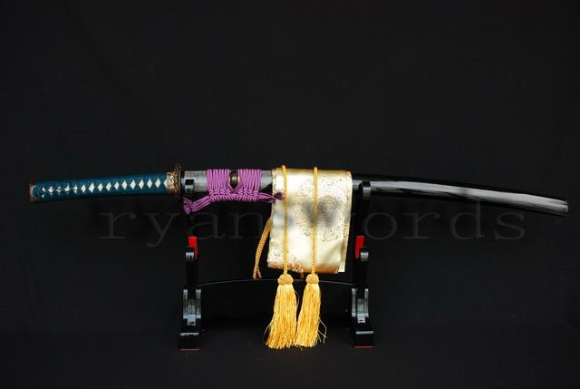 High Quality 1095 Carbon Steel Clay Tempered+Abrasive Ray Skin Saya Japanese Samurai Katana Sword