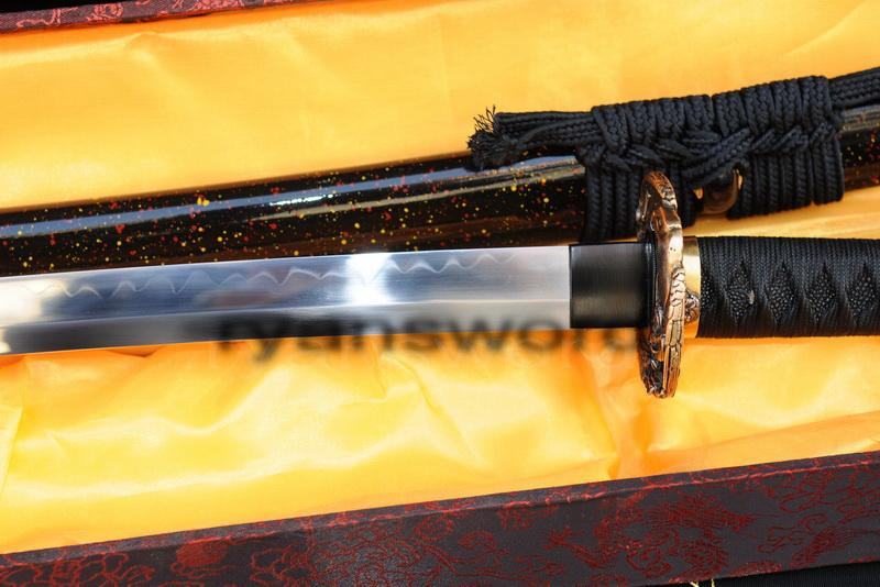 High Quality 1095 Carbon Steel Clay Tempered Japanese Samurai Katana Sword