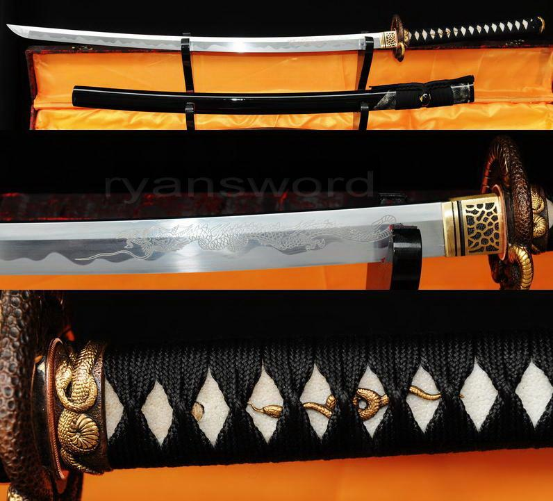 High Quality Sanmai Folded Steel 1095 Carbon Steel Japanese Samurai Katana Sword