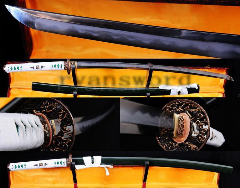 High Quality 1095 Carbon Steel Folded Steel Iron Clay Tempered Abrasive Japanese Samurai Sword Katana