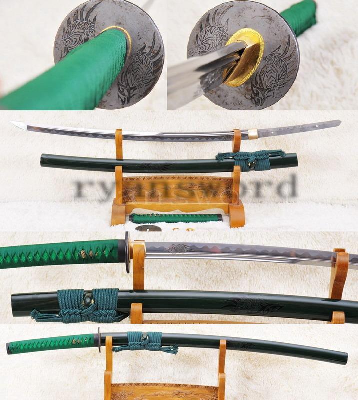 High Quality 1095 Carbon Steel Japanese Tiger Sword Samurai Katana
