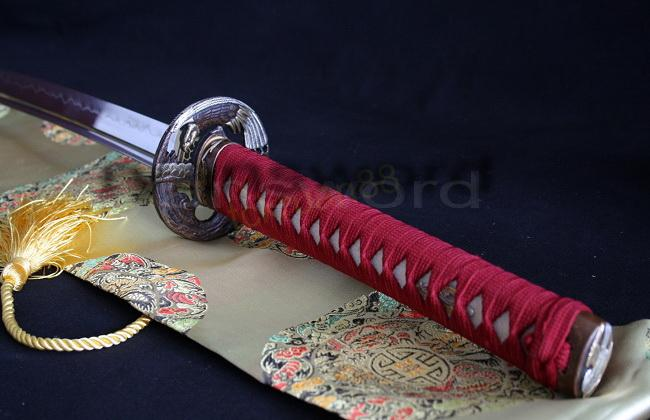 High Quality 1095 High Carbon Steel Clay Tempered Samurai Katana Sword