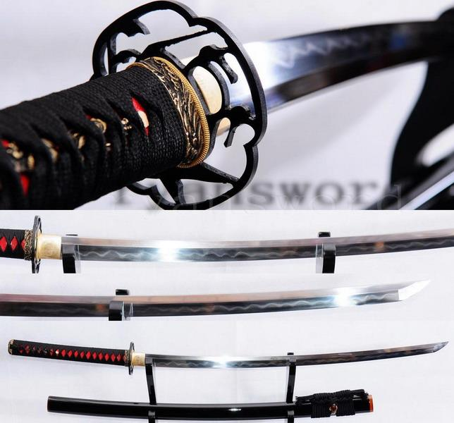 High Quality Clay Tempered Japanese Honsanmai Samurai Sword Katana