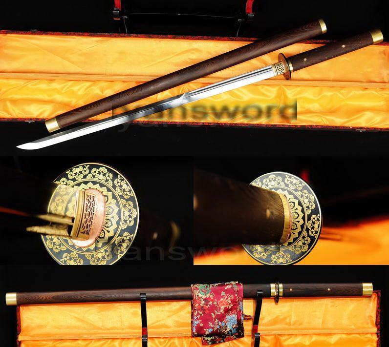 High Quality 1095 Carbon Steel Hualee Saya Japanese Samurai Ninja Sword