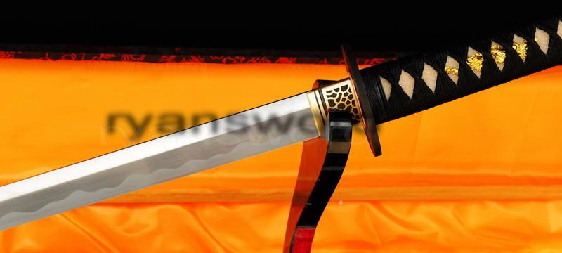 High Quality 1095 Carbon Steel+Folded Steel Japanese Samurai Ninja Sword
