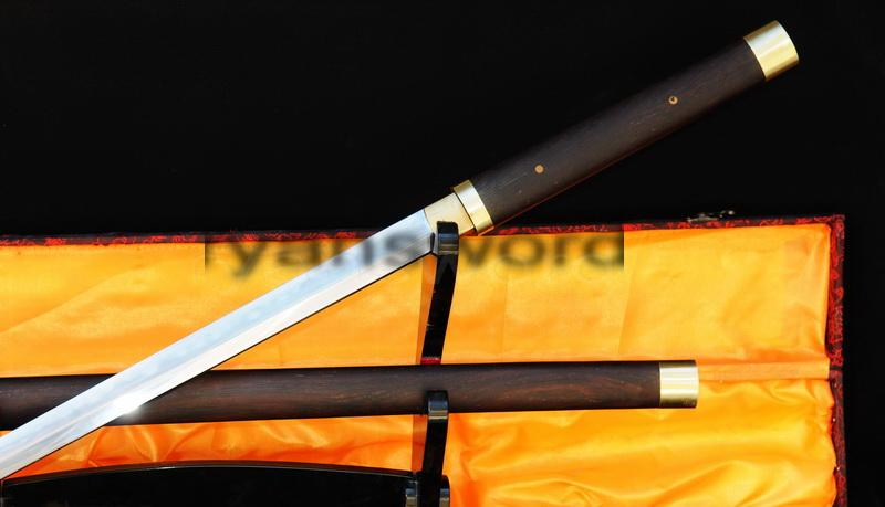 High Quality Combined Material Clay Tempered+Abrasive Japanese Ninja Sword