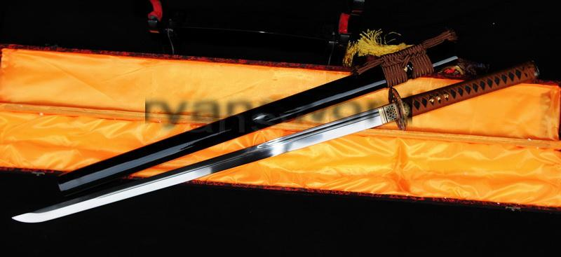 High Quality 1095 Carbon Steel Black Saya Japanese Samurai Ninja Sword