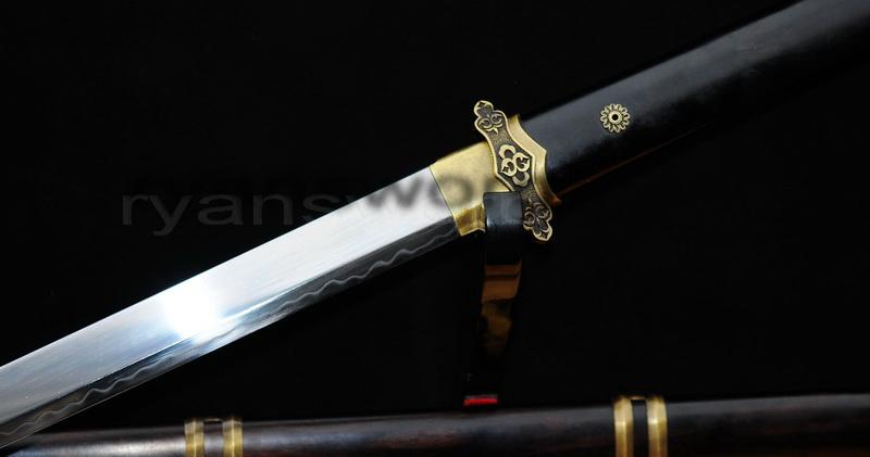 High Quality Clay Tempered 1095 Carbon Steel Chinese Tang Sword