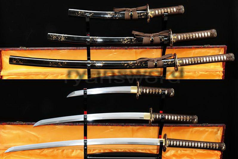 High Quality Combined Material Clay Tempered+Abrasive Japanese Samurai Sword Set
