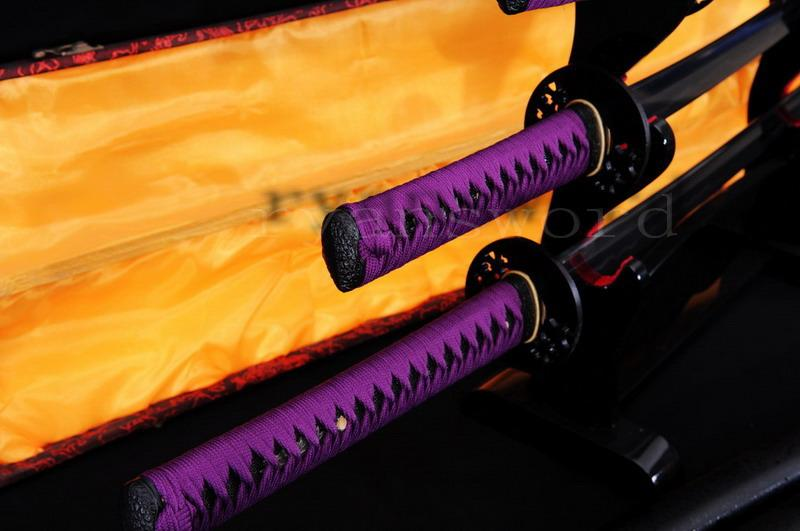 High Quality Honsanmai Clay Tempered Japanese Samurai Sword Katana+Wakizashi+Tanto)