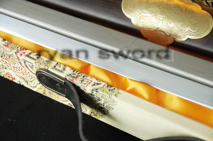 High Quality Folded Steel 1095 Carbon Steel Sanmai Chinese(Longquan)Sword