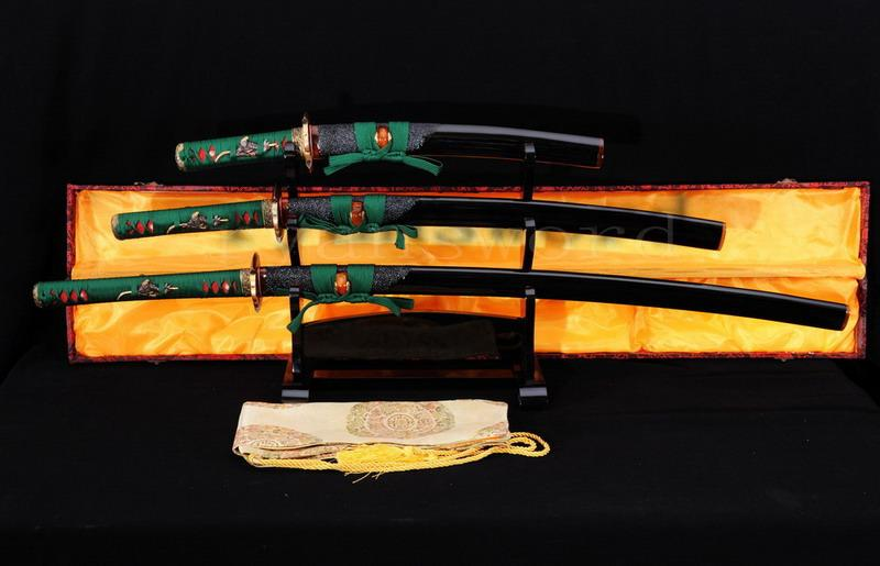 High Quality Clay Tempered Honsanmai Japanese Samurai Sword Katana Wakizashi Tanto