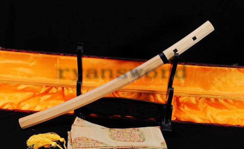 High Quality Honsanmai Clay Tempered Japanese Samurai Shirasaya Wakizashi Sword
