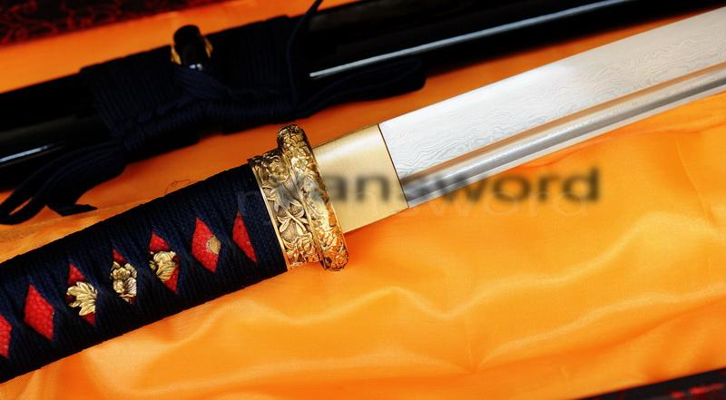 Hand Forged Folded Steel Japanese Samurai Wakizashi Sword