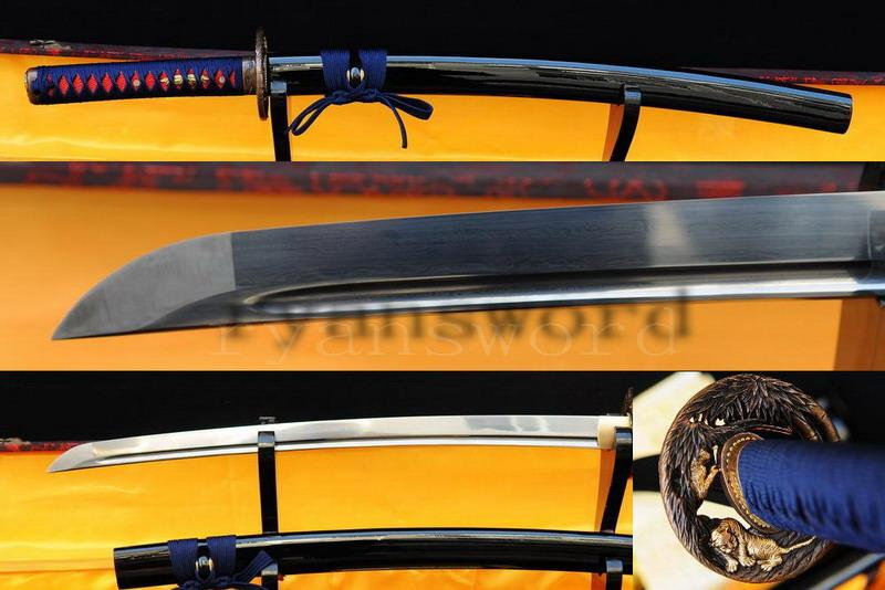 Handmade Folded Steel Sharp Japanese Samurai Wakizashi Sword